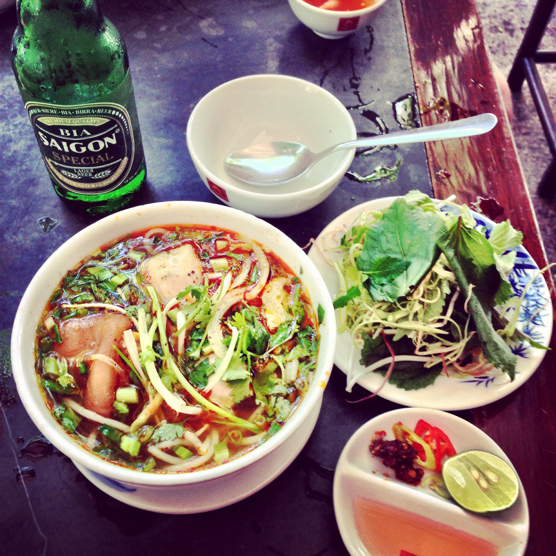 Bo Bun Hue and a Saigon Beer