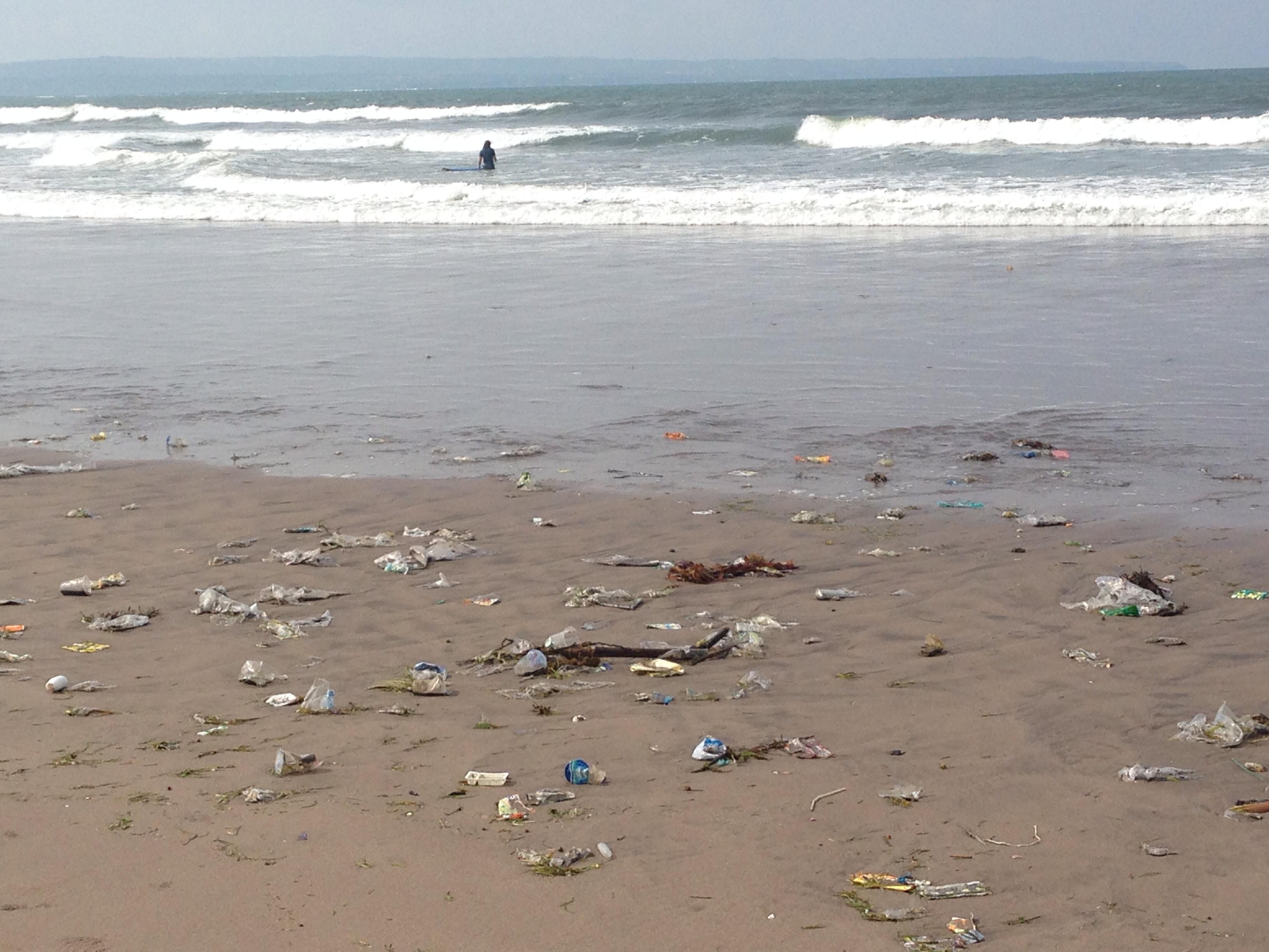 Trash at Double Six Beach