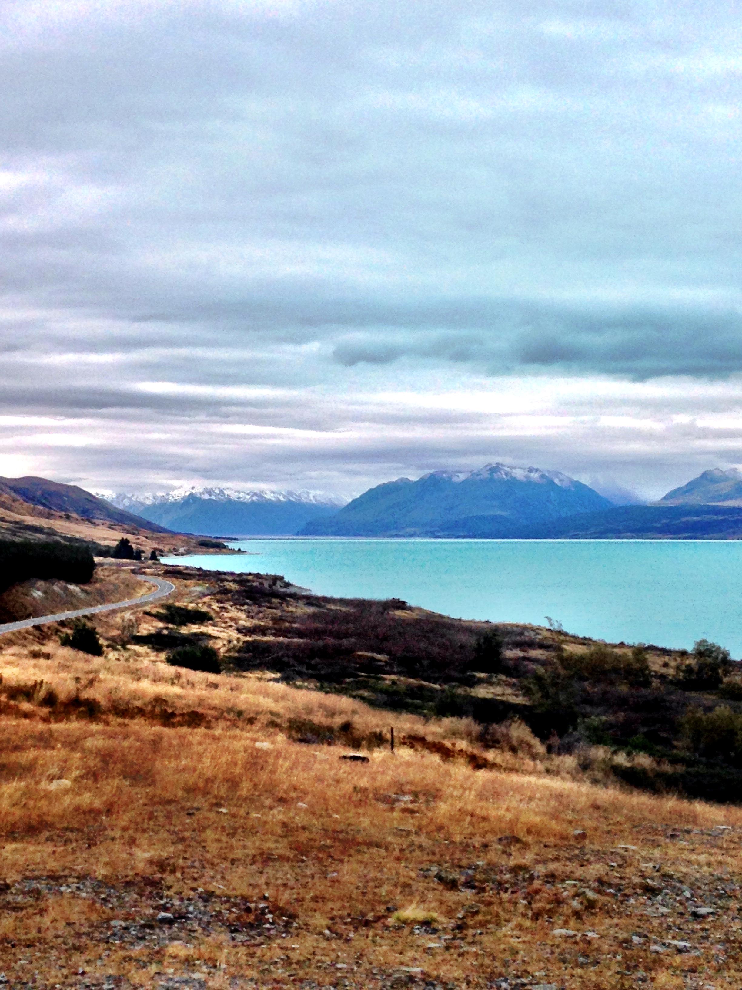 Amazing blue lake New Zealand
