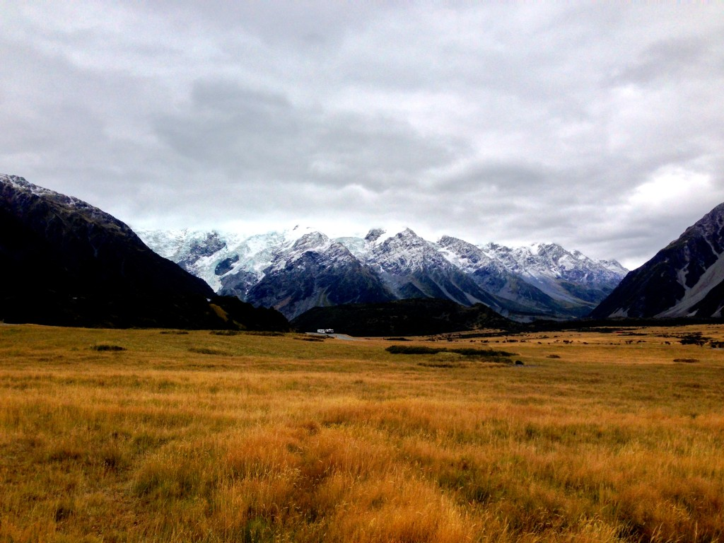 Stray Bus New Zealand Review - View of Mt Cook from the Hostel