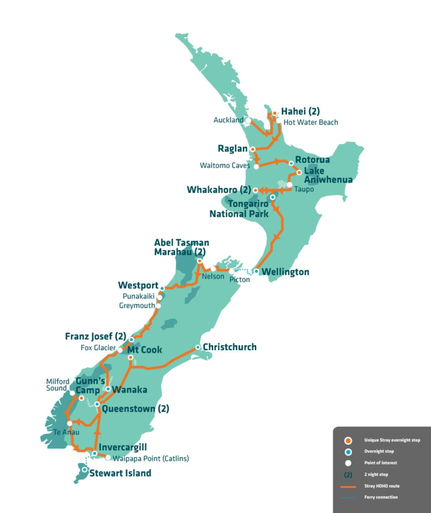 Stray NZ Moe Pass Map