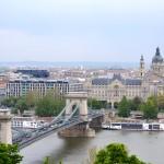 Buda view of Chain Bridge in Budapest