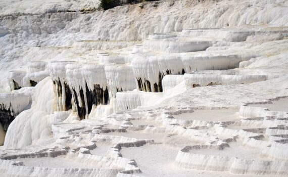 Pamukkale Calcium Carbonite formation