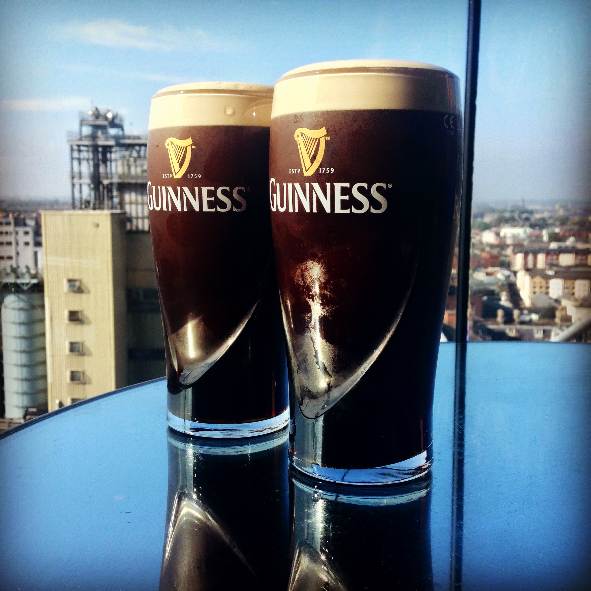 Pint of Guinness from Guinness factory in Dublin