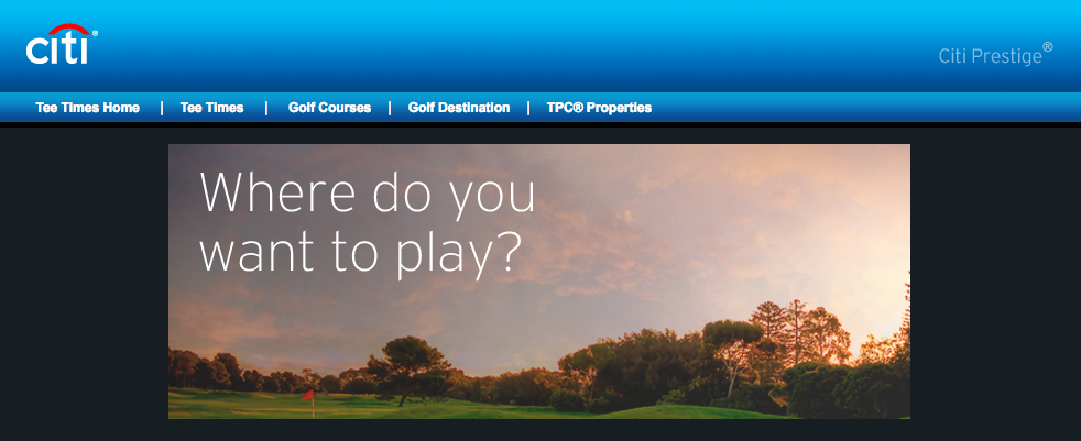 Citi Prestige Free Golf Rounds