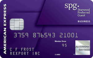 SPG Amex Business Card Application
